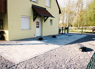 Aménagement extérieur et pose de pavé par Wagner construction